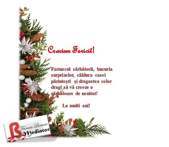 Felicitare Craciun Fericit! 2013